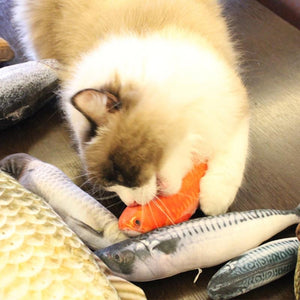 Stuffed Fish Plushie Cat Toy for sale at Global Plushie