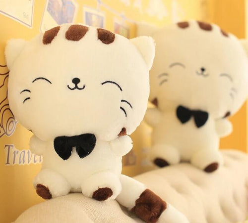 Cute Bow Tie Kawaii Cat Plushie for sale at Global Plushie