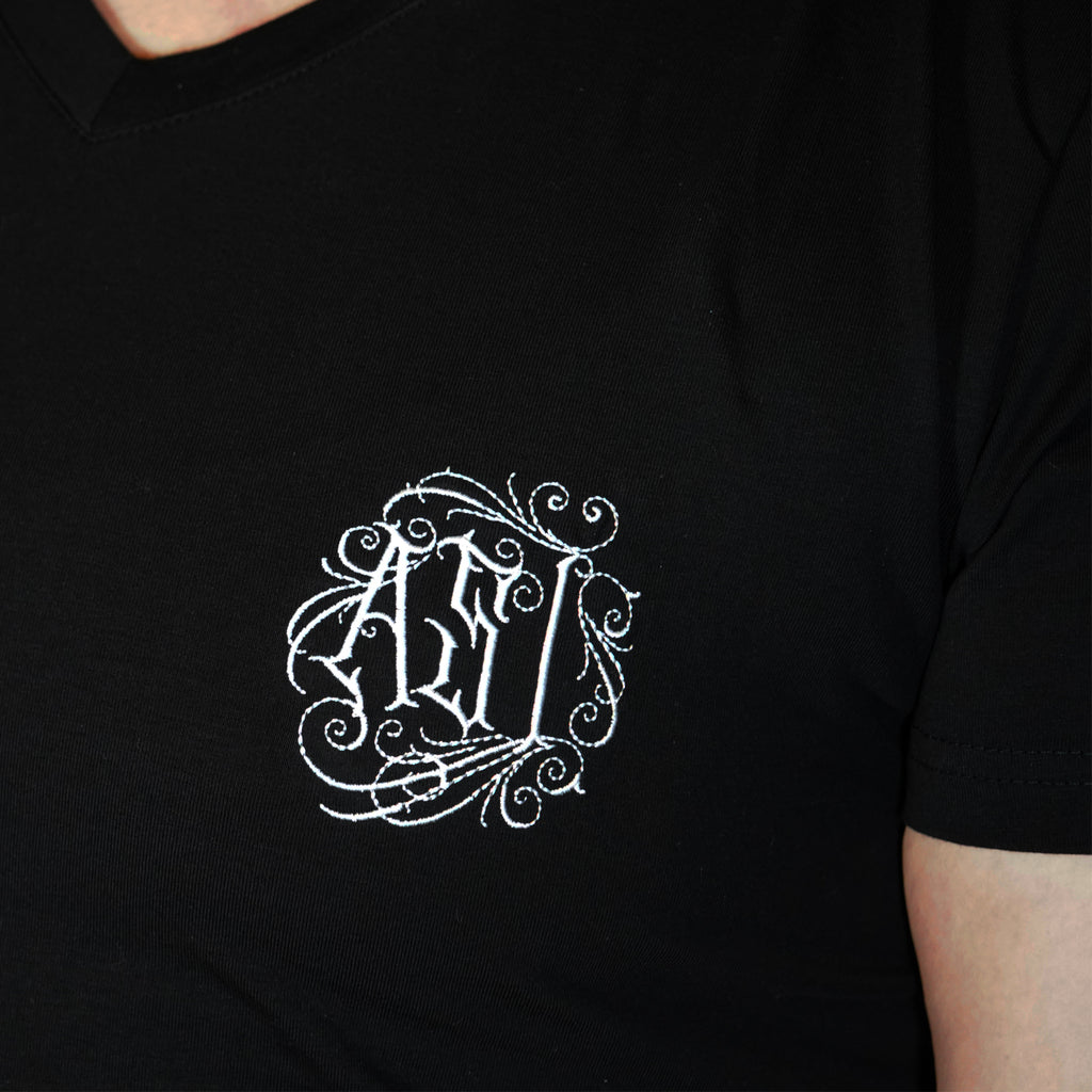 Asi Black V Neck T-Shirt