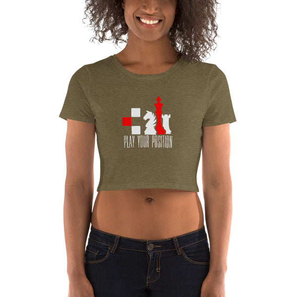 Play Your Position - Women's Crop Tee