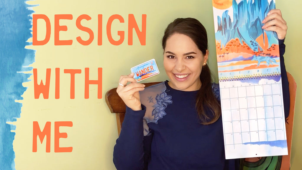 Design Products With Me! Revealing NEW Stickers & Wall Calendar