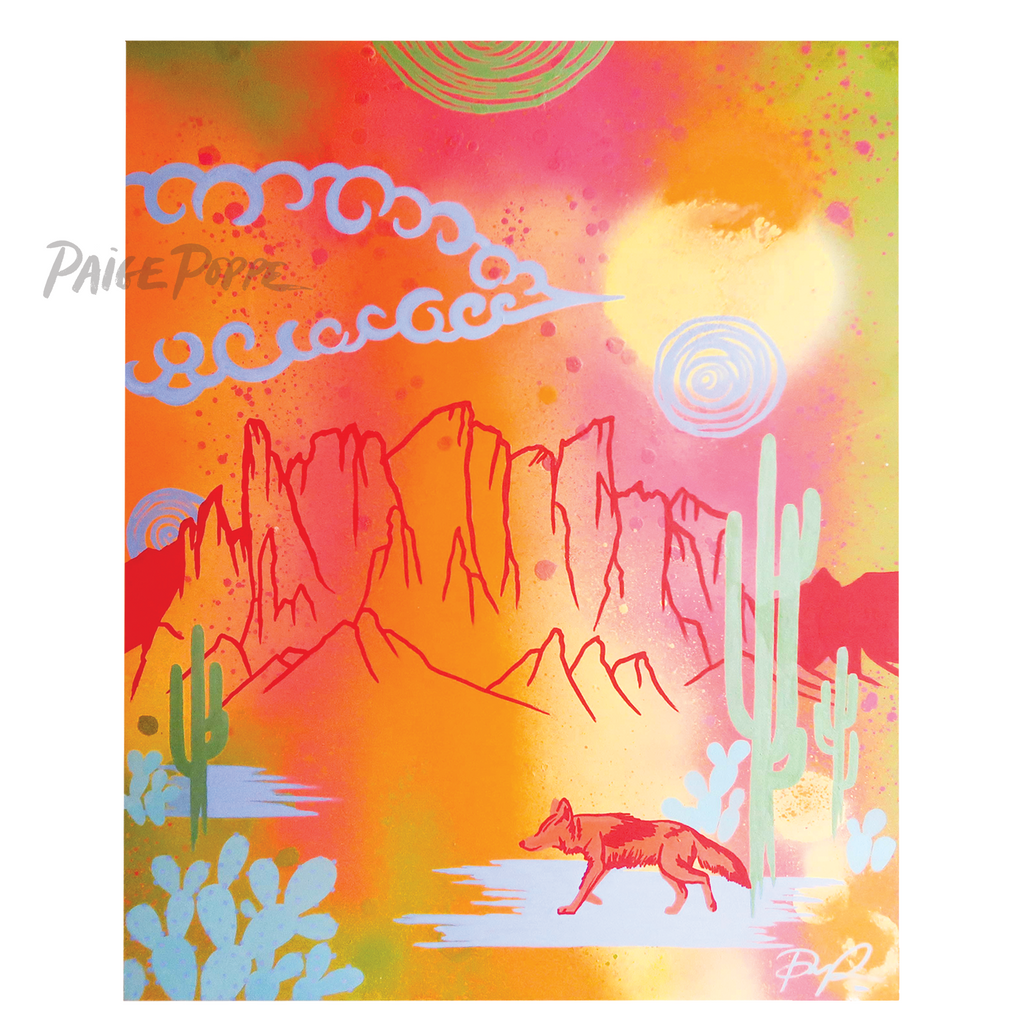 """Wanderer of the Superstitions"" Original Landscape Painting"