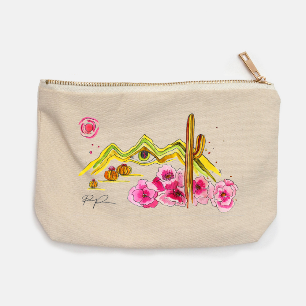 """Eye of the Desert"" Canvas Pouch"
