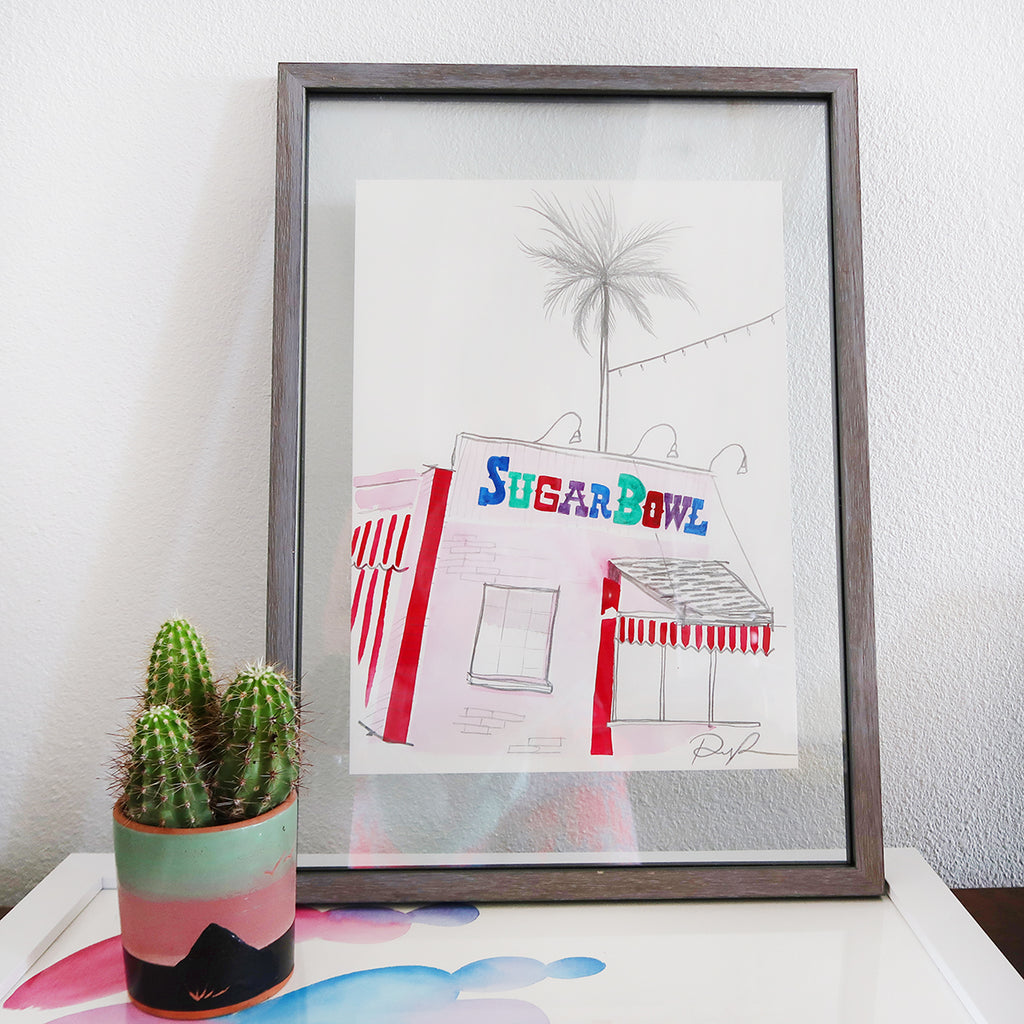 """Sugar Bowl"" Watercolor Illustration Print"