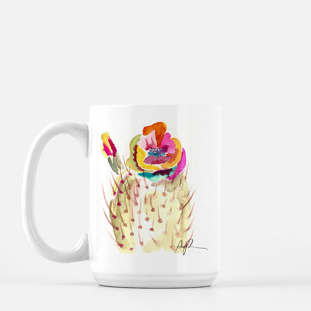 """Technicolor Bloom"" Ceramic Mug"