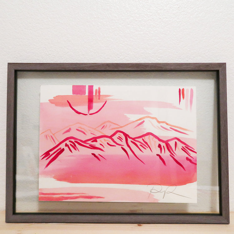 """Pink Desert at Dawn"" Watercolor Print"