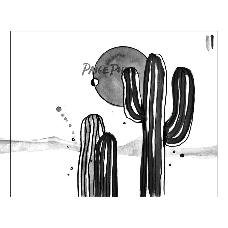 """Desert Noir"" Watercolor Print"