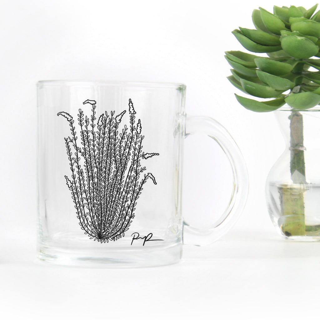"""Ocotillo Rising"" Glass Mug"