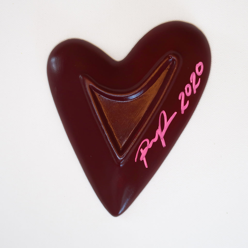 """Love"" Handpainted Ceramic Heart Dish"