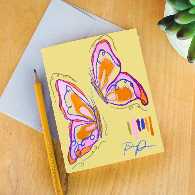 """Butterfly Babe"" Greeting Card"