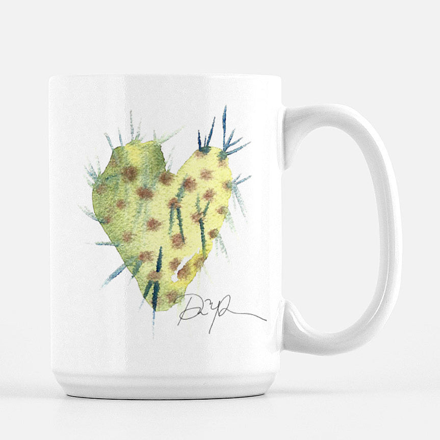 """Cacti Love"" Ceramic Mug"