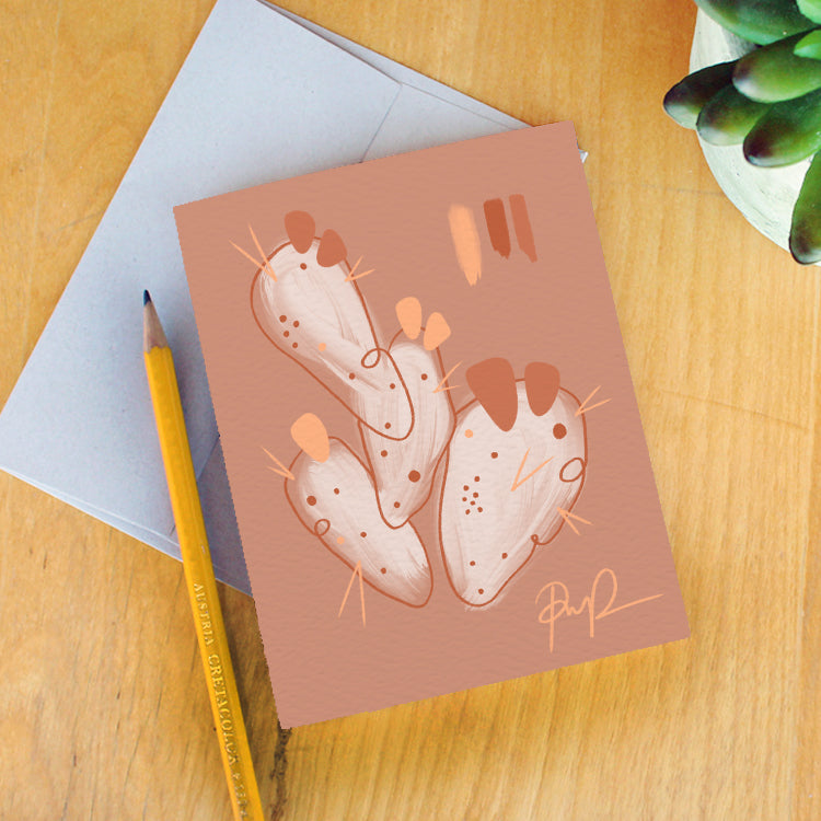 """Cactus Calm"" Greeting Card"