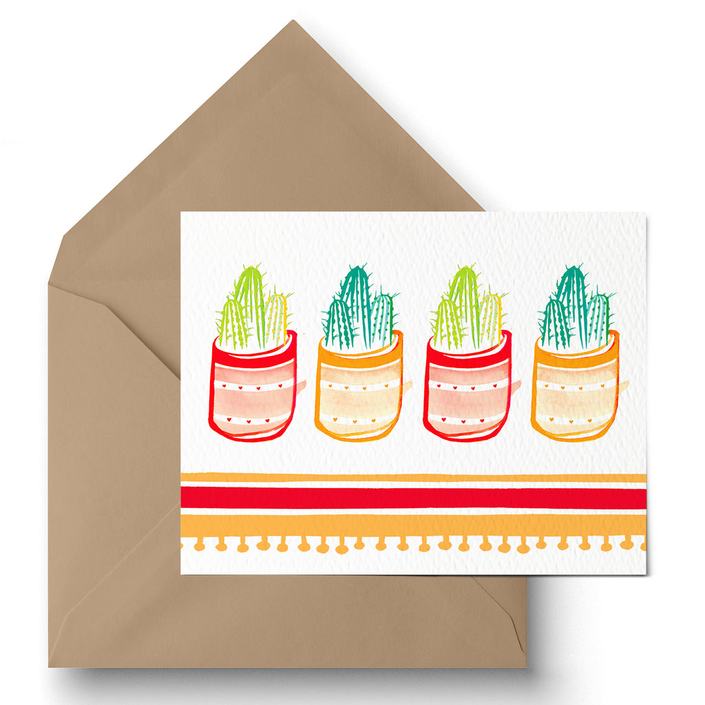 """Cactus Party"" Greeting Card"