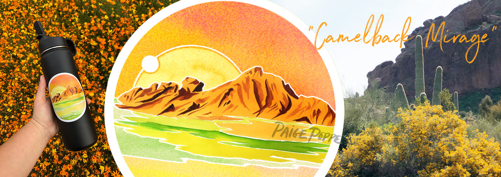 """Camelback Mirage"" Sticker"