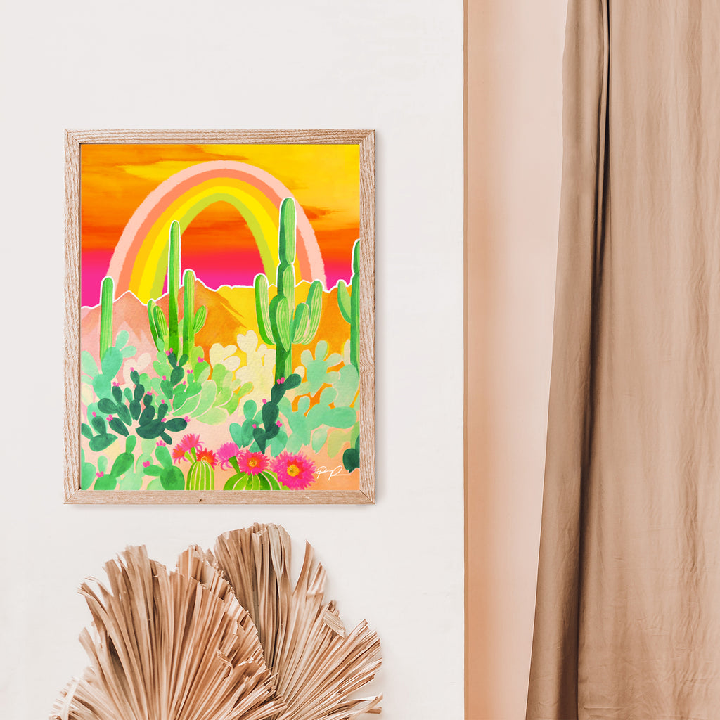 """Desert Rainbow"" Vertical Art Print"