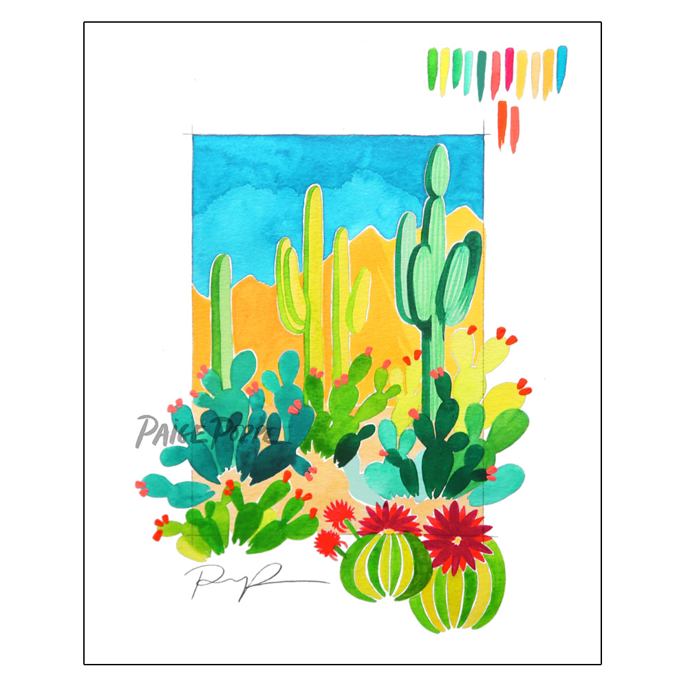 """Desert Sketchbook"" Watercolor Art Print"