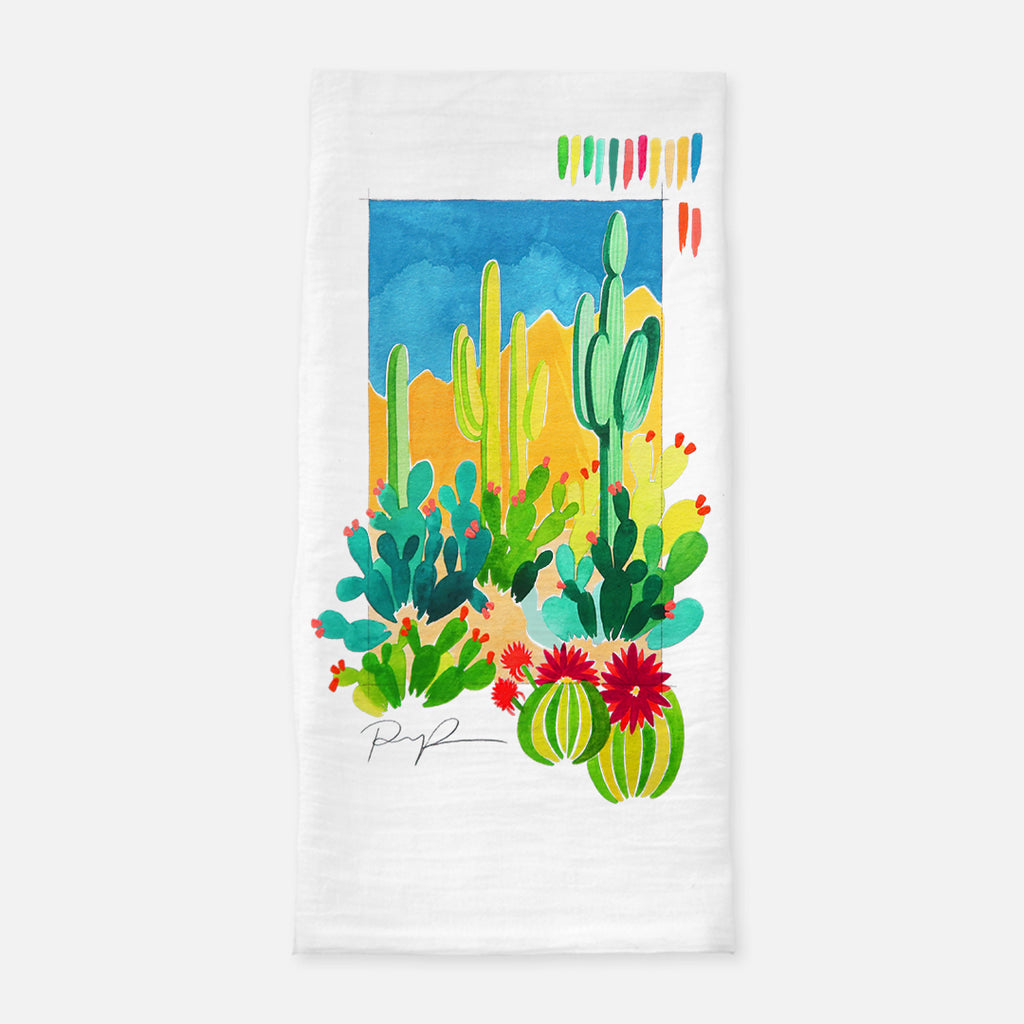 """Desert Sketchbook"" Tea Towel"