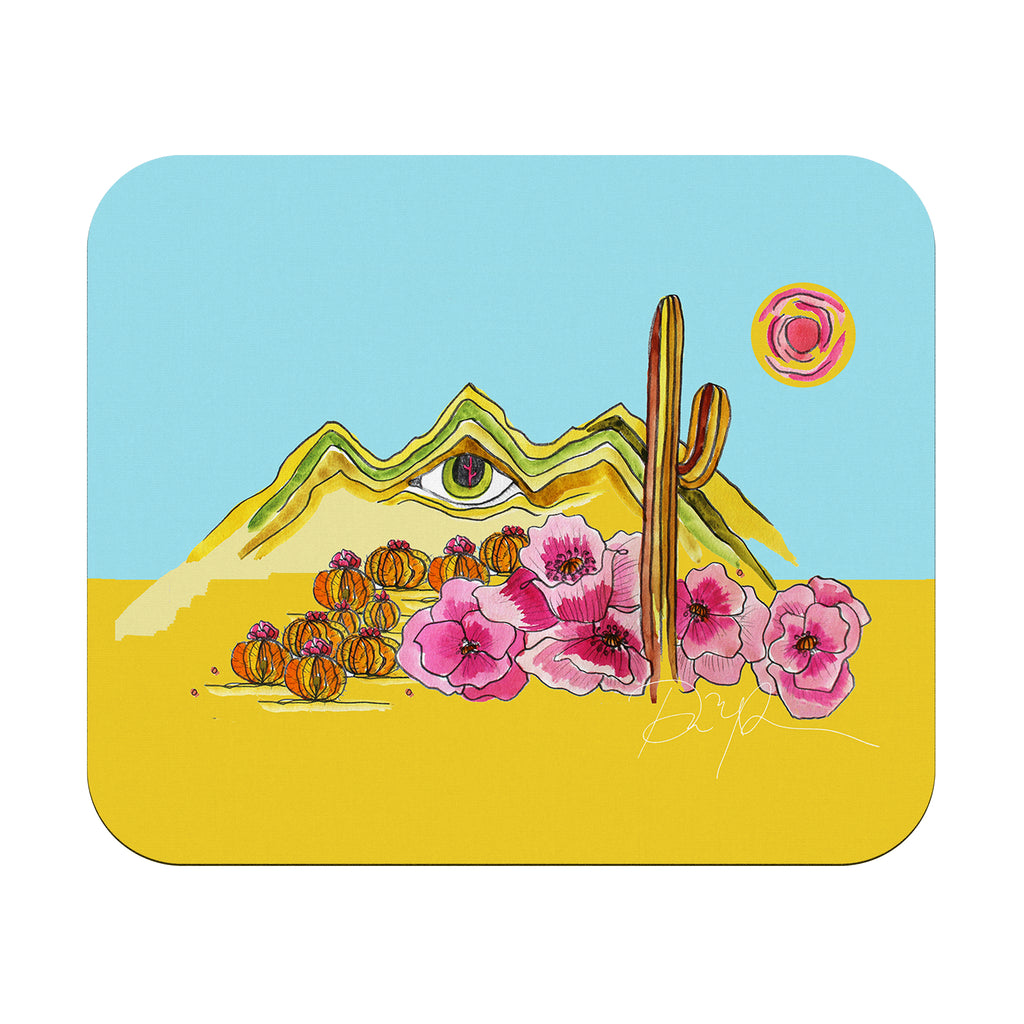 """Eye of the Desert"" Rectangular Mousepad"