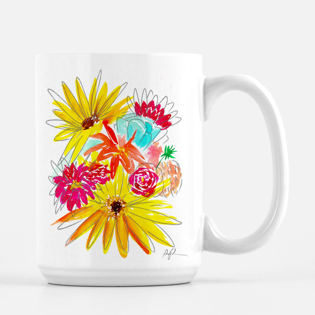 """Farmers Market Bouquet"" Ceramic Mug"