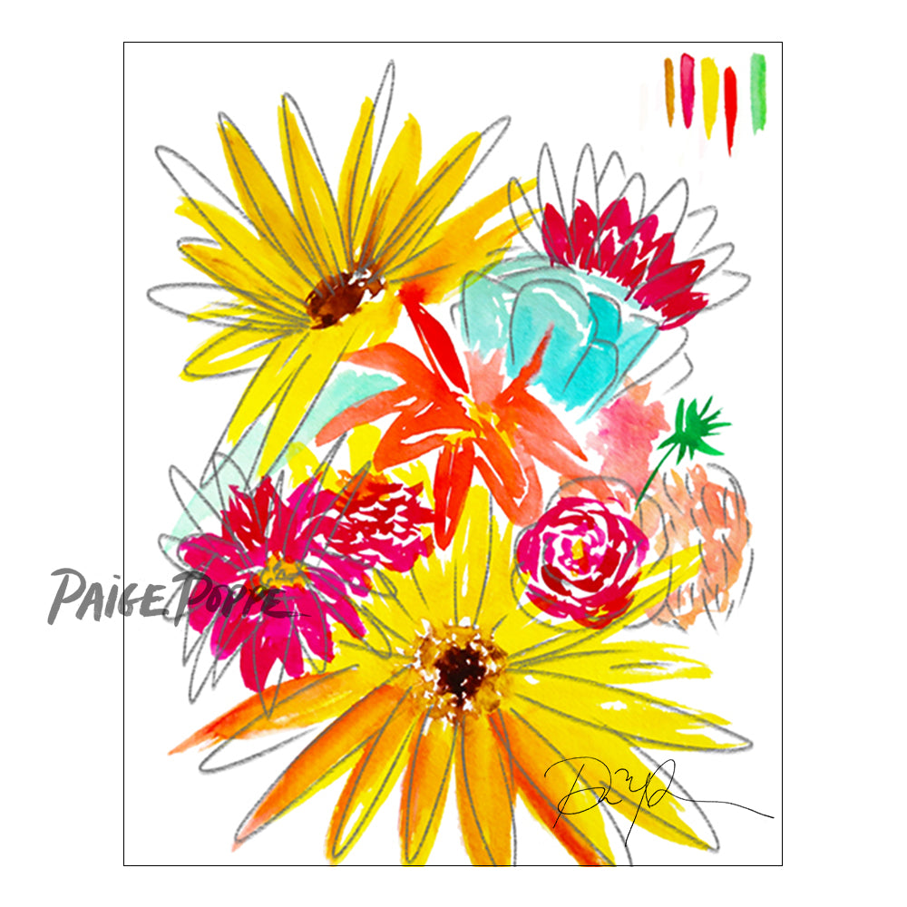 """Farmers Market Bouquet"" Fine Art Print"