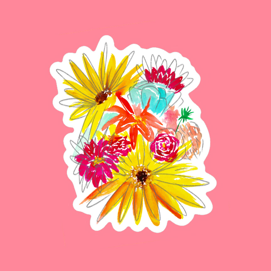 """Farmers Market Bouquet"" Sticker"