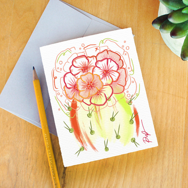 """Flower Power"" Greeting Card"