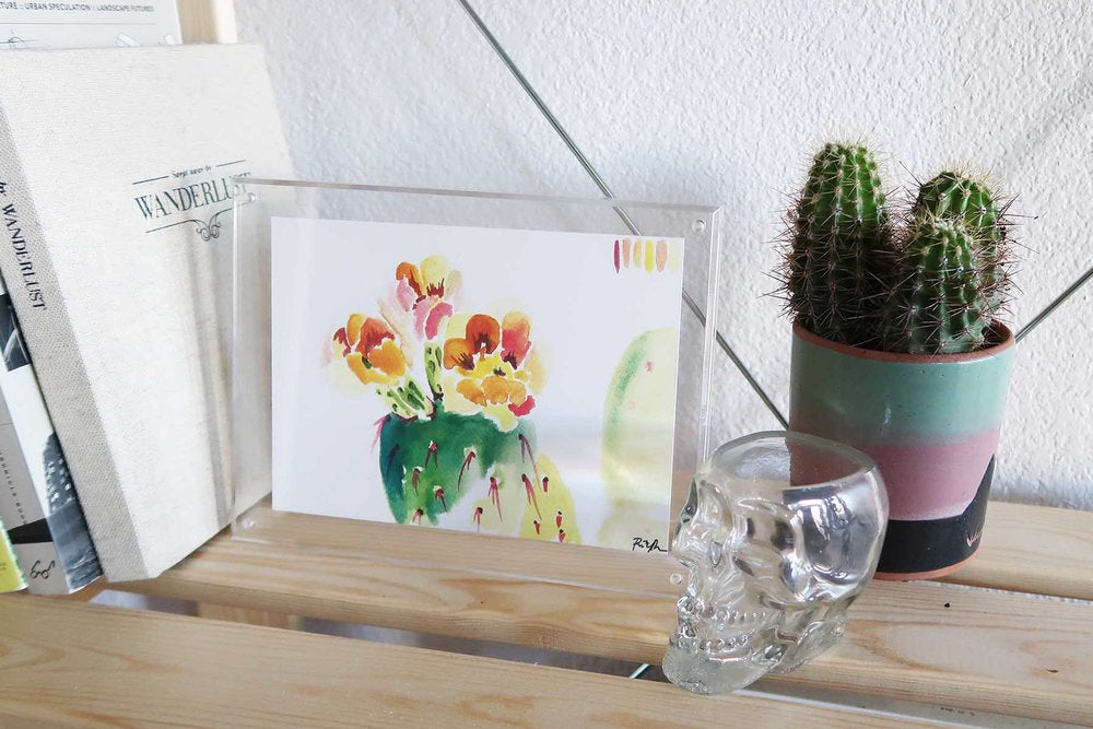 """Technicolor Prickly Pear"" Watercolor Print"