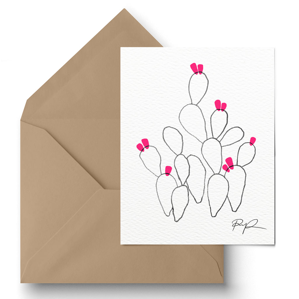 """Funky Flora"" Greeting Card"