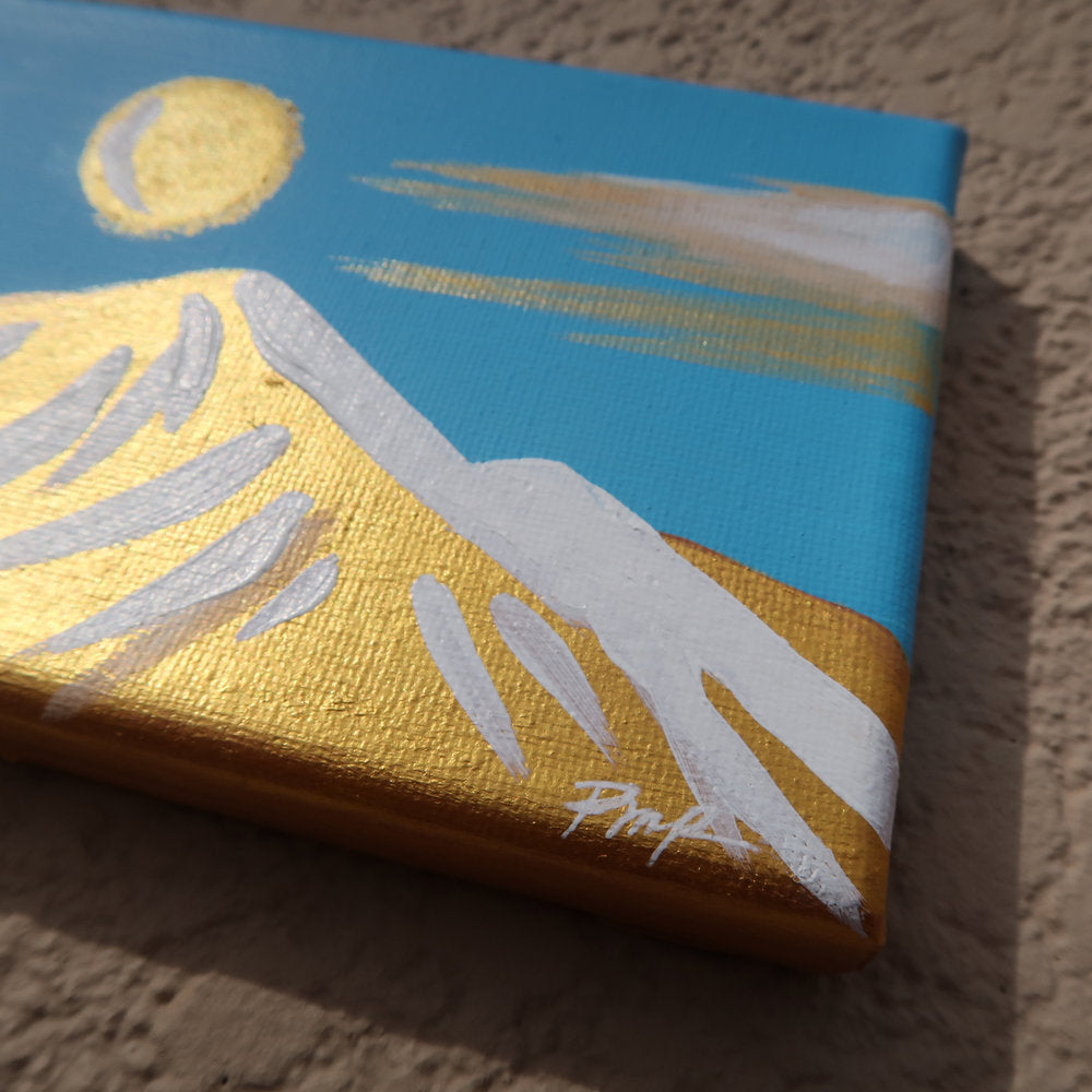 """Golden Camelback"" Original Panorama on Canvas"