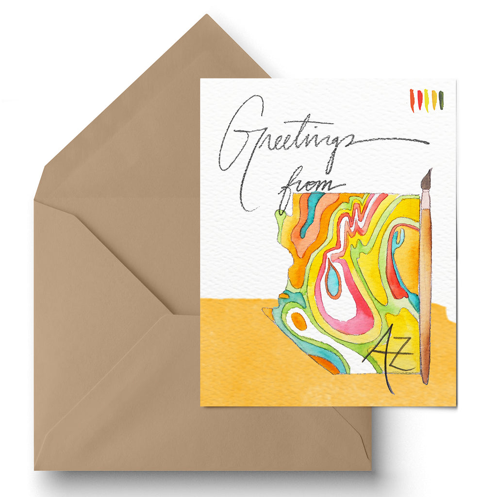 """Greetings from Arizona"" Greeting Card"