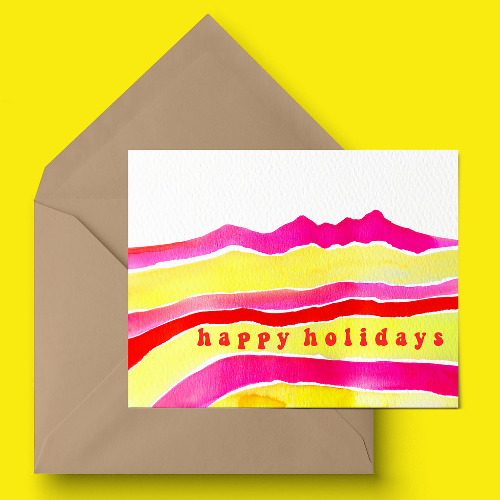 """Groovy Holiday"" Holiday Card"
