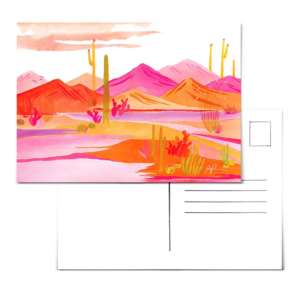 """Groovy Sunset"" Postcard"