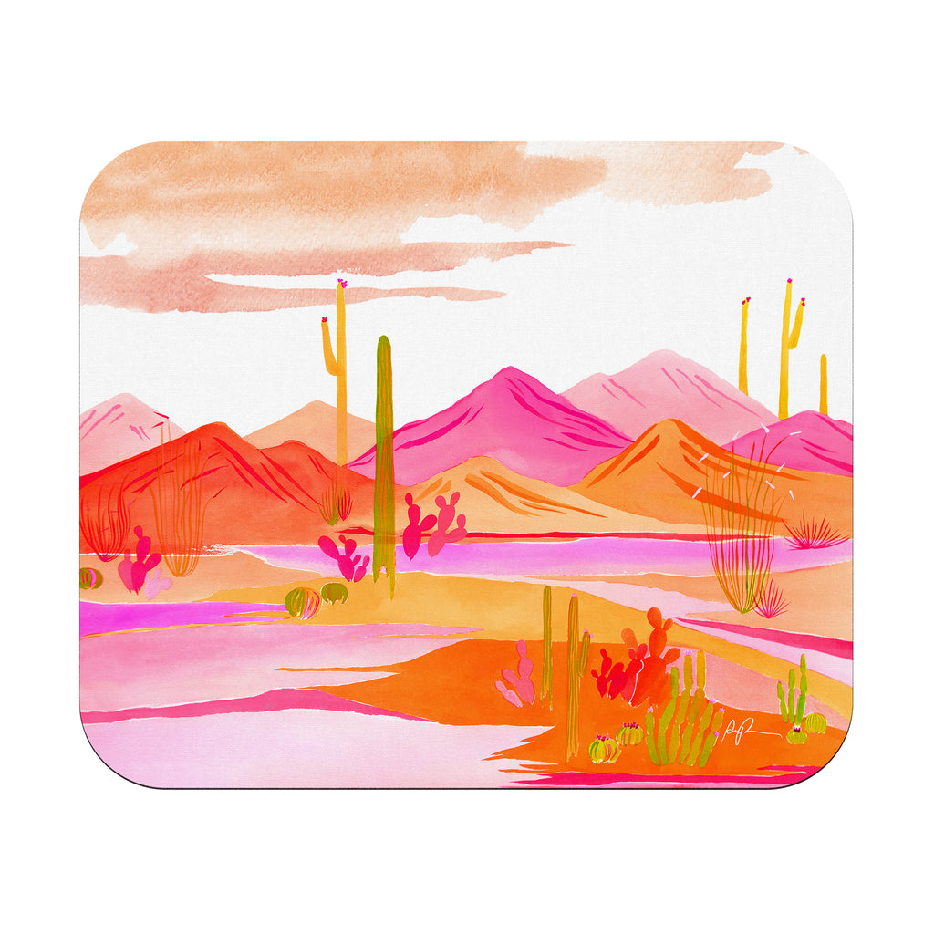 """Groovy Sunset"" Rectangular Mousepad"