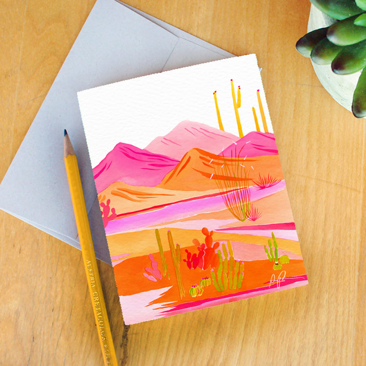 """Groovy Sunset"" Greeting Card"
