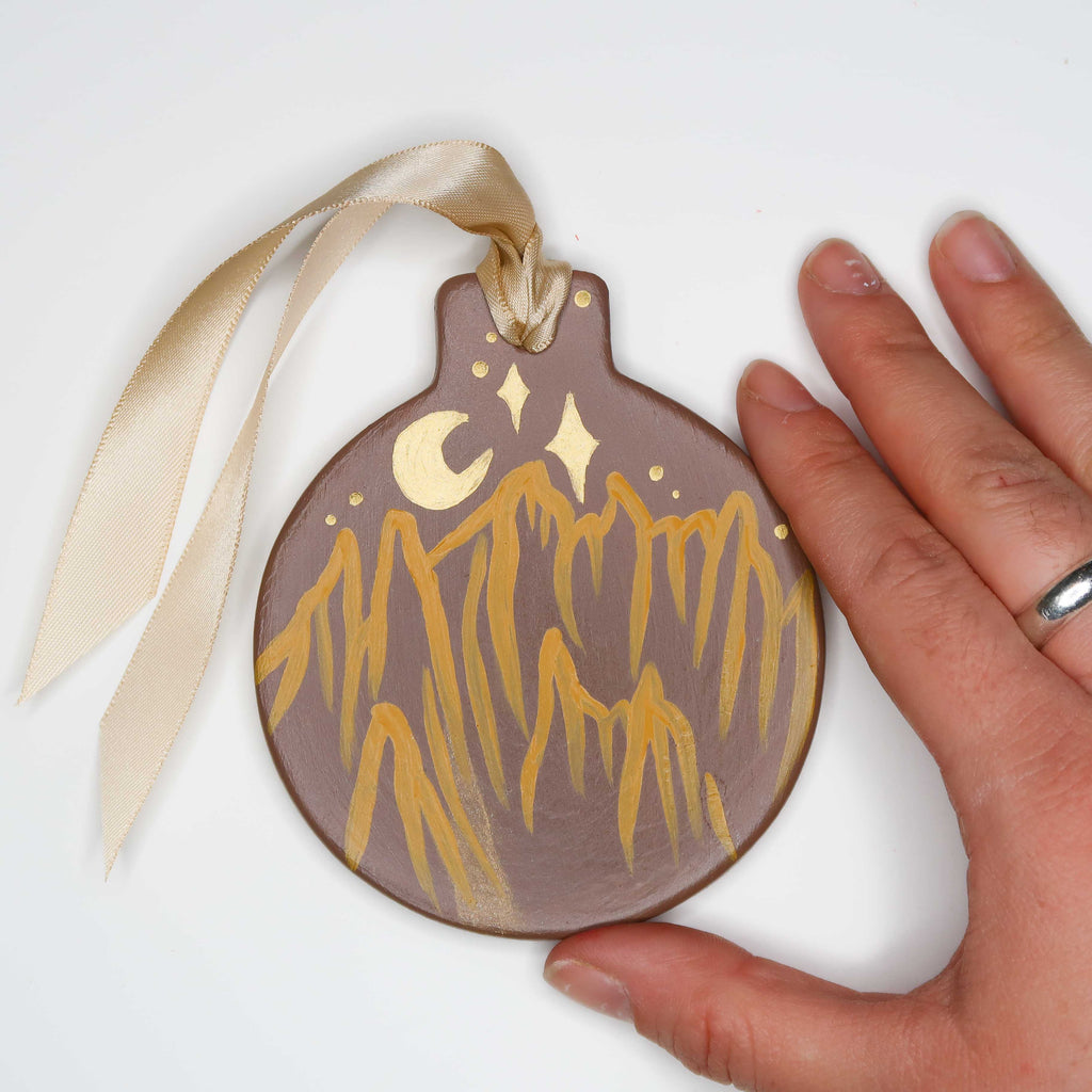 """Southwest Superstitions"" Handpainted Ceramic Ornament"