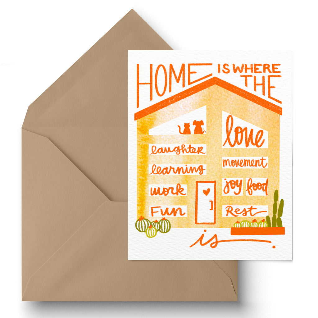 """Home Is"" Greeting Card"