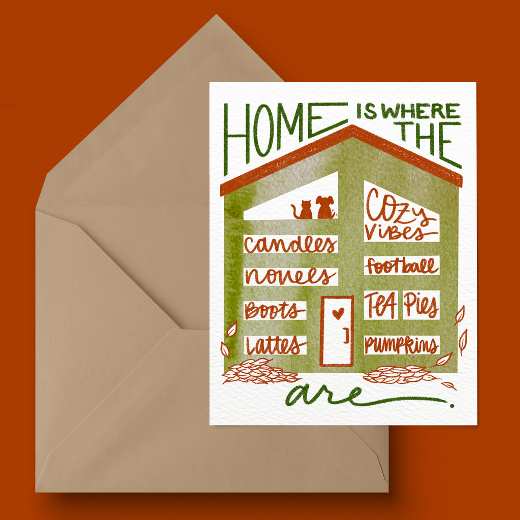 """Home Is"" Fall Greeting Card"