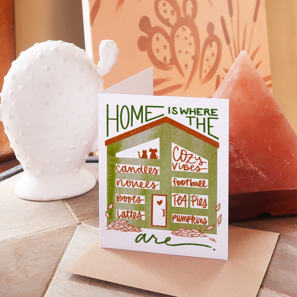 """Home Is"" Greeting Card Collection, Set of 5"
