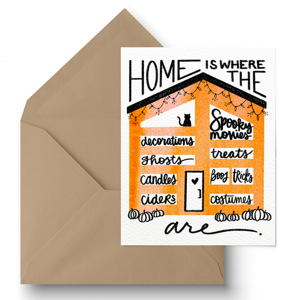 """Home Is"" Halloween Greeting Card"
