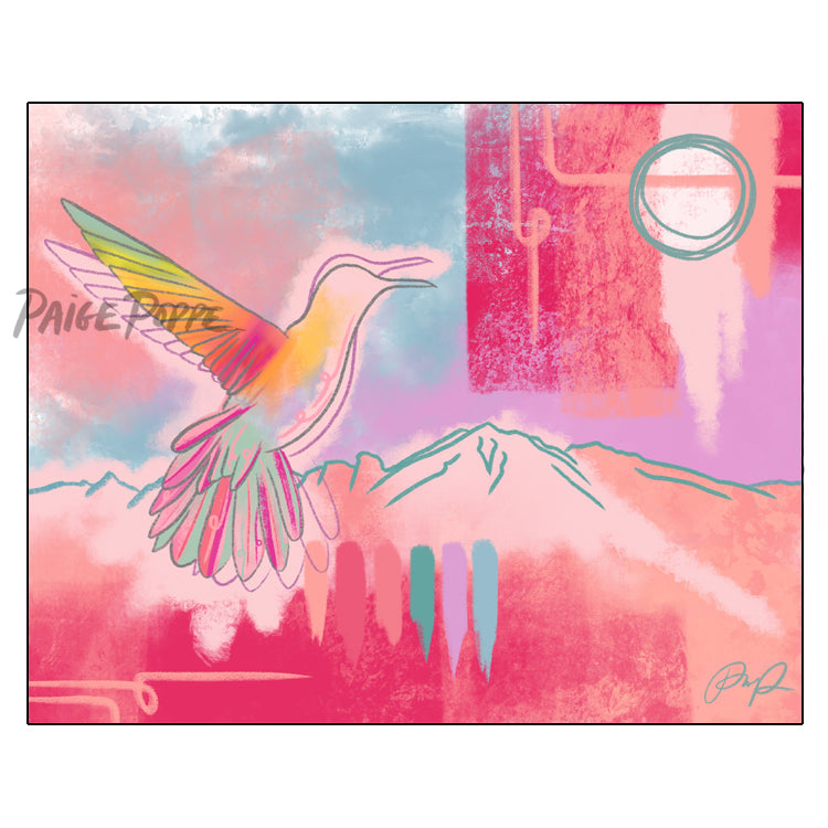 """Hummingbird Dreams"" Art Print"