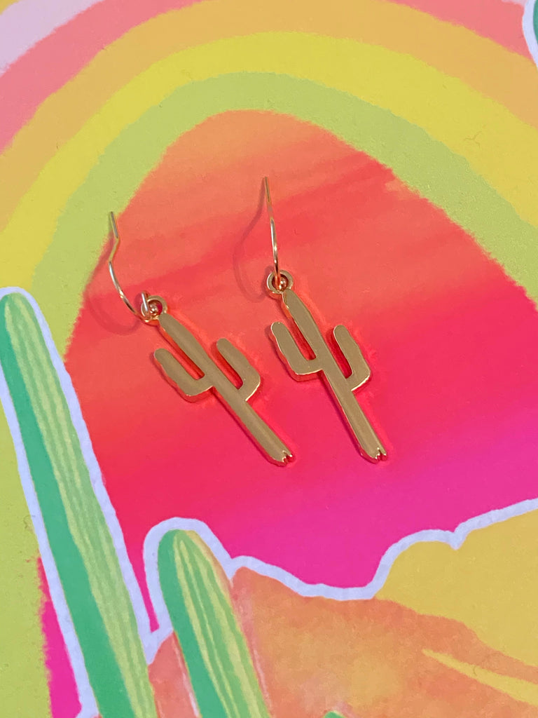 """Golden Saguaro"" Earrings"