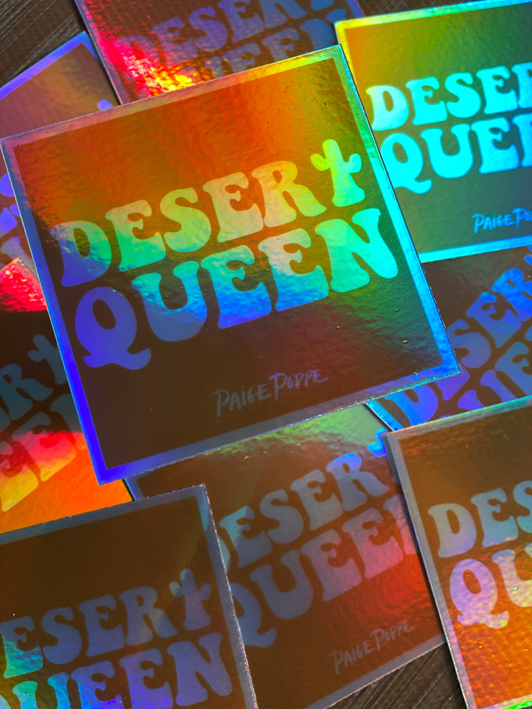 """Desert Queen"" Holographic Sticker"