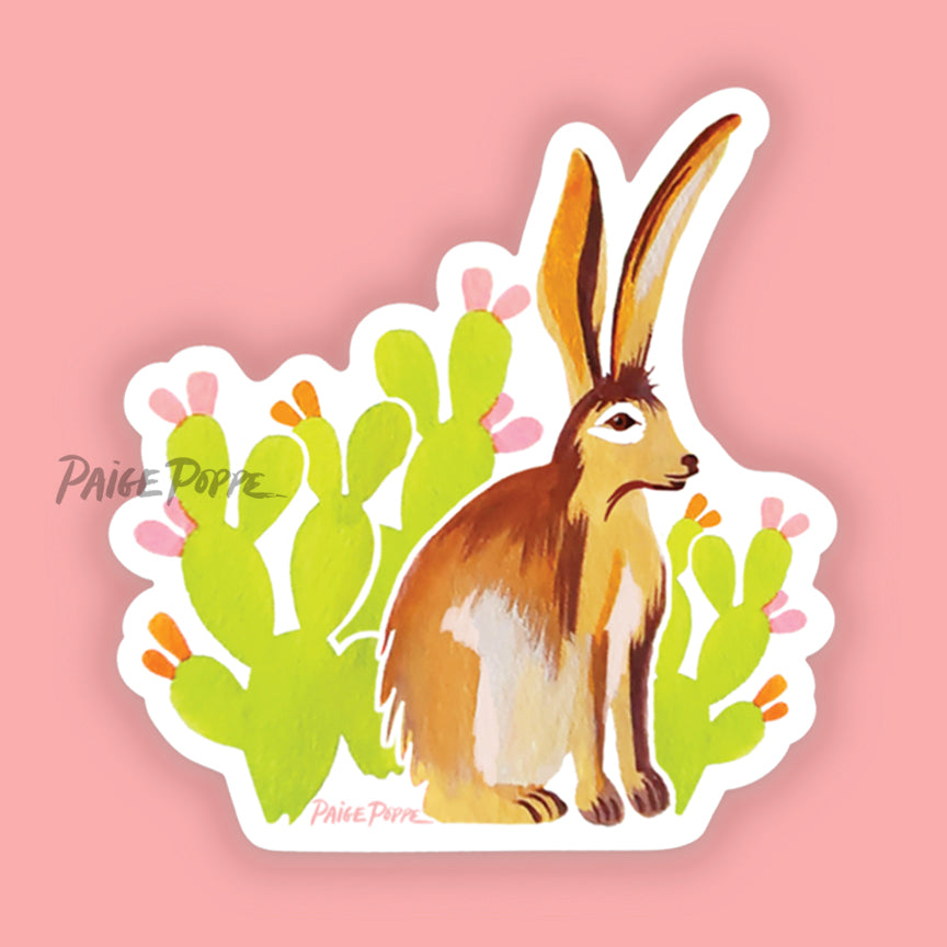 """Desert Jackrabbit"" Sticker"