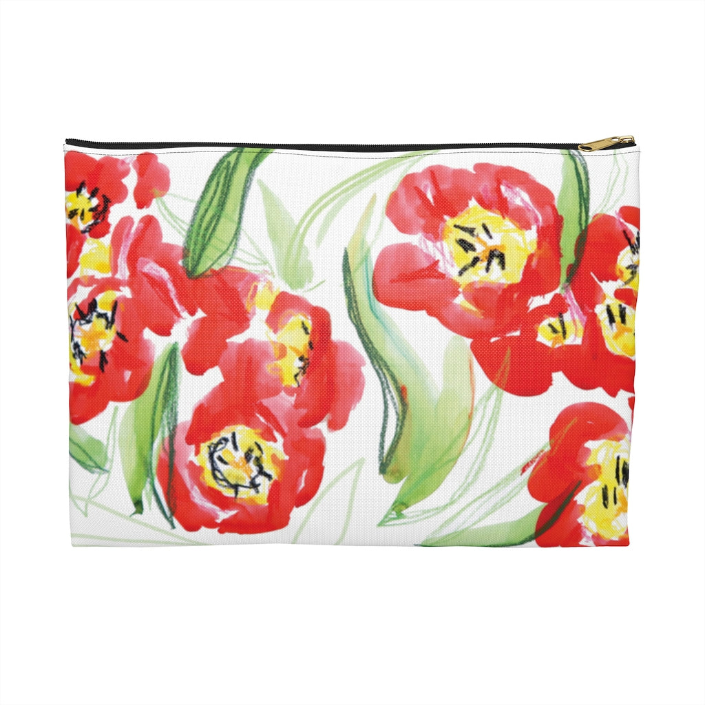 """Blooming Tulips"" Patterned Pouches"