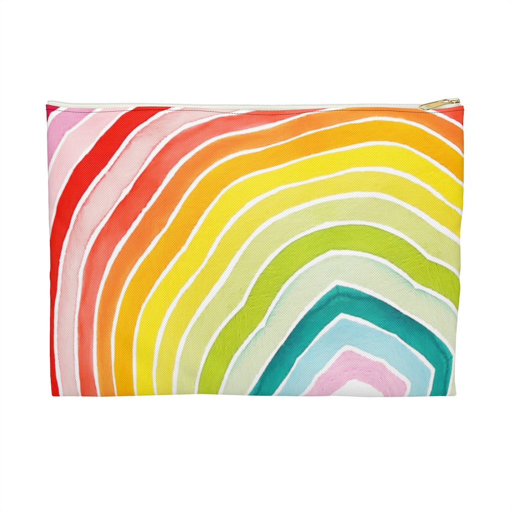 """Rainbow Geode"" Patterned Pouches"