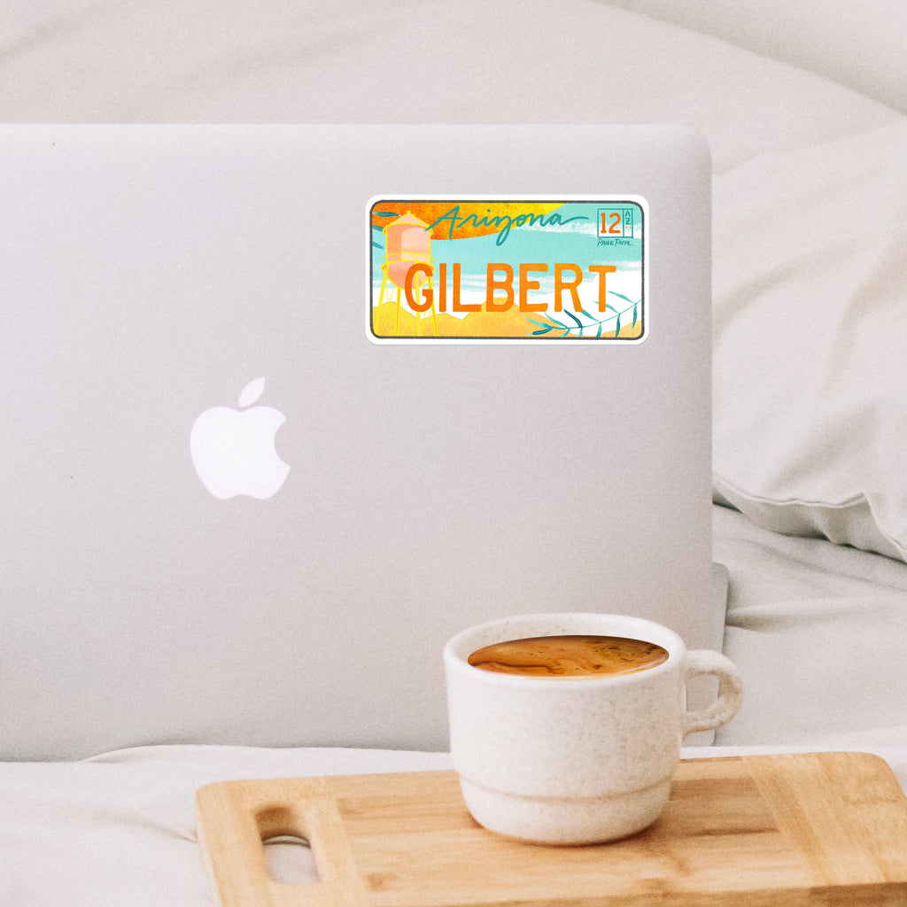"""Gilbert"" License Plate Sticker"