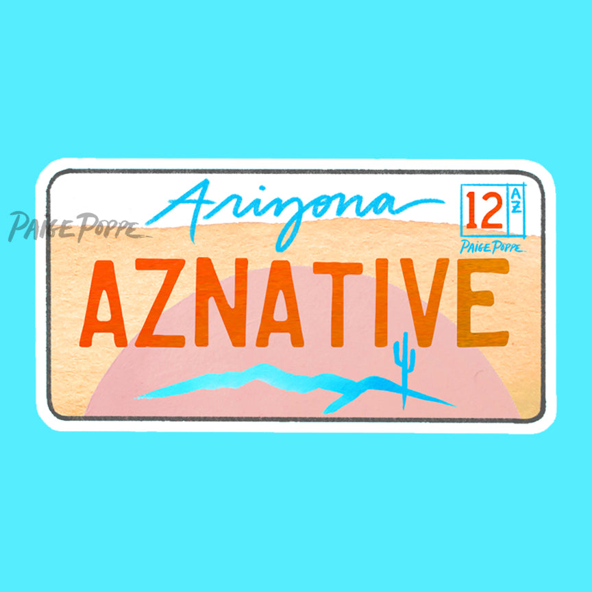 """AZ Native"" License Plate Sticker"