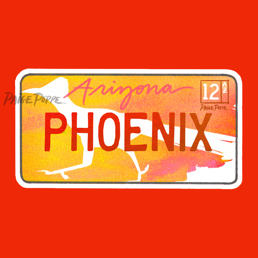 """Phoenix"" License Plate Sticker"