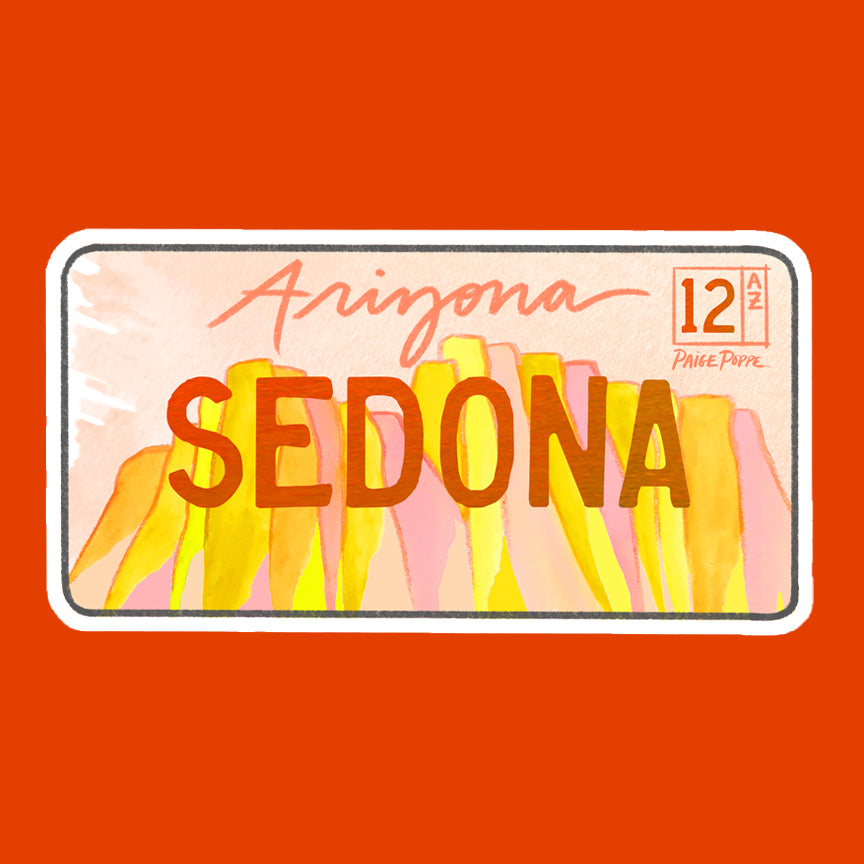 """Sedona"" License Plate Sticker"