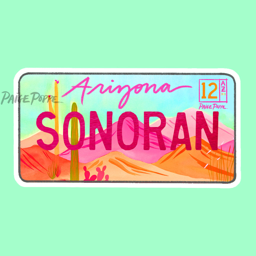 """Sonoran"" License Plate Sticker"